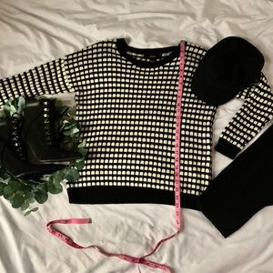 Black and white checker sweater